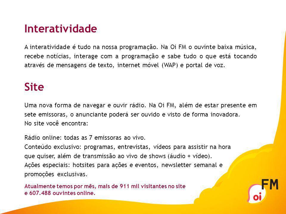 Oi FM – Um jeito diferente de ouvir rádio em São Paulo. São Paulo acaba de ganhar uma rádio nova. Nova e livre. Principalmente no jeito de pensar. É a