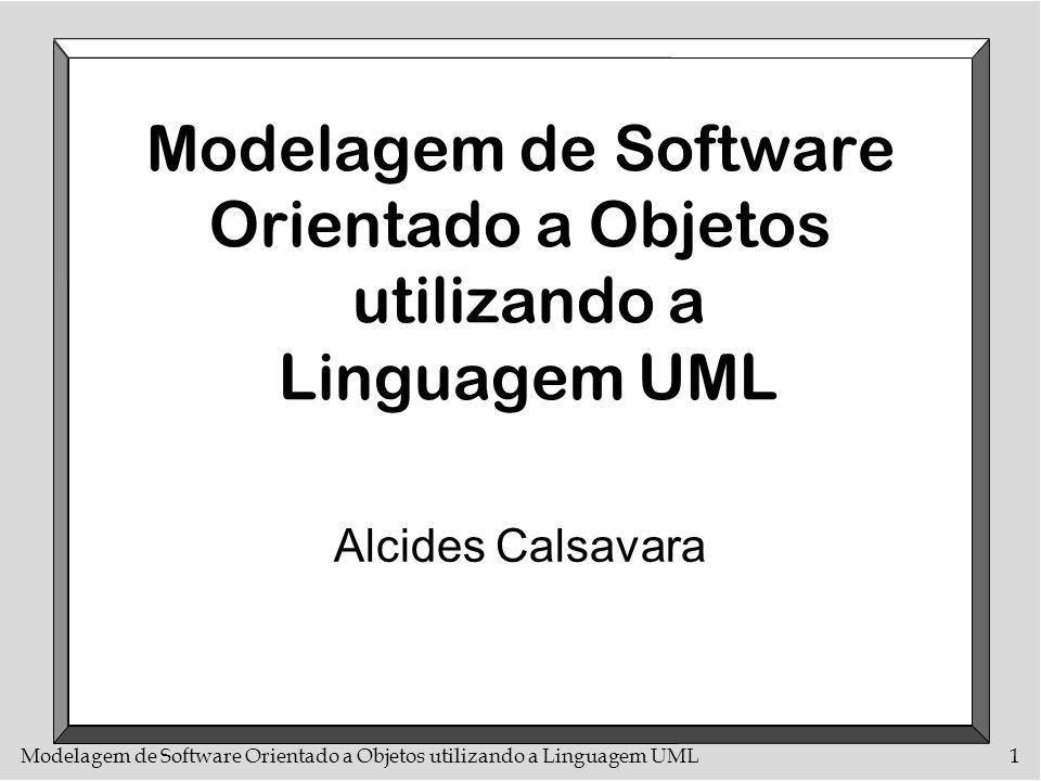 Modelagem de Software Orientado a Objetos utilizando a Linguagem UML72 O componente use case n Um use case representa uma funcionalidade completa (mas pode haver dependências entre os diversos use-cases de um sistema) n Um use case sempre faz algo solicitado por um actor e retorna alguma coisa para esse actor