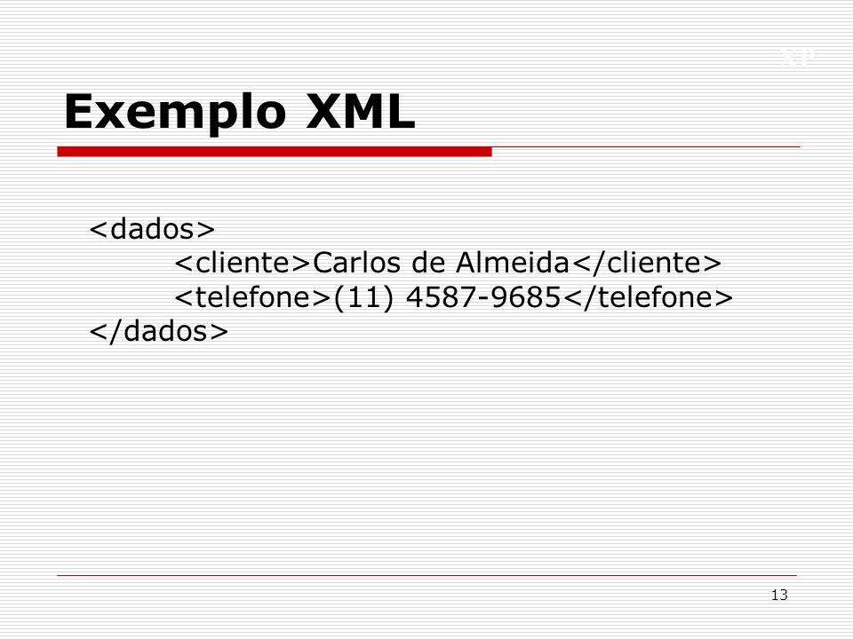 XP Exemplo XML 13 Carlos de Almeida (11) 4587-9685