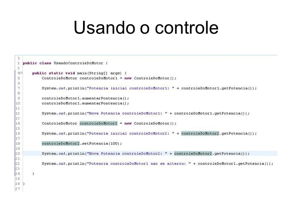 Usando o controle