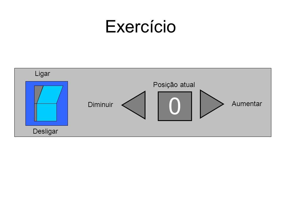 Exercício Posição atual Diminuir 0 Aumentar Ligar Desligar