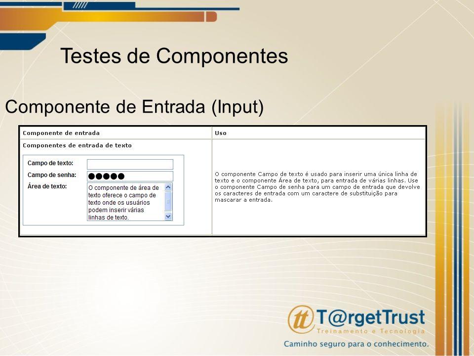 Testes de Componentes Componente de Entrada (Input)