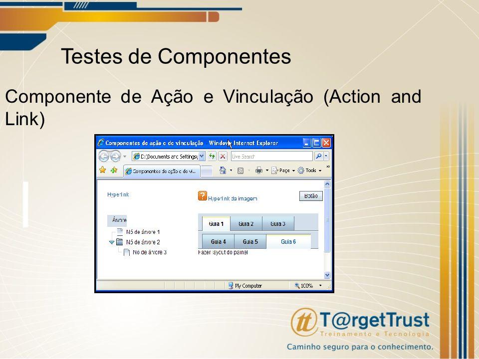 Testes de Componentes Componente de Ação e Vinculação (Action and Link)