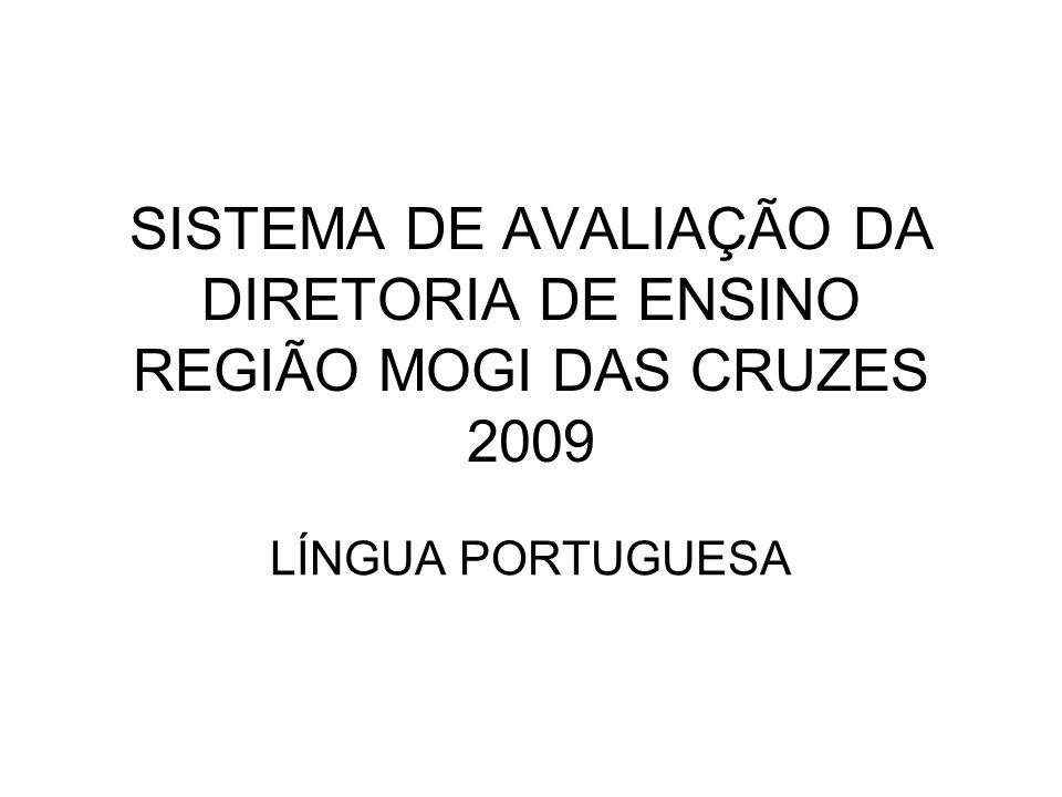 SISTEMA DE AVALIAÇÃO DA DIRETORIA DE ENSINO REGIÃO MOGI DAS CRUZES 2009 LÍNGUA PORTUGUESA