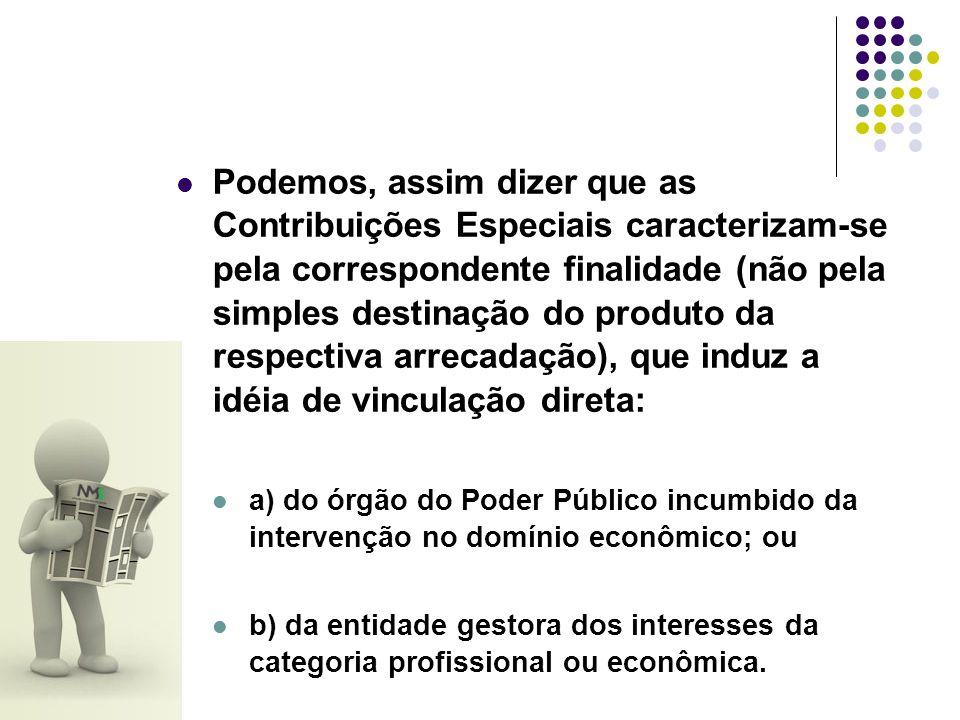 a) Contribuições Sindicais Dentro desse grupo estão todas aquelas cobradas em prol de entidades sindicais ou representativas de categorias profissionais ou econômicas como o CREA, CRM, CRO, OAB, FIEMG, FCOMÉRCIO e outras.
