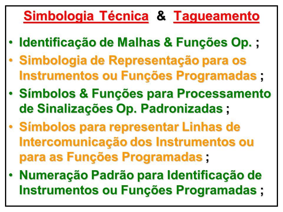 ApresentaçãoFormatosParâmetros Na Apresentação dos Formatos & Parâmetros do TAGNAME CODE atentarTODAS TAGNAME CODE, deve-se atentar para TODAS Características Técnicas Op.