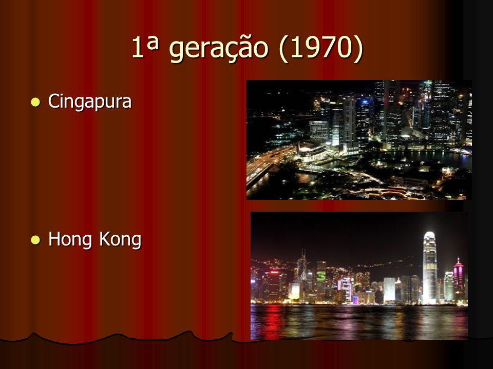1ª geração (1970) Cingapura Cingapura Hong Kong Hong Kong