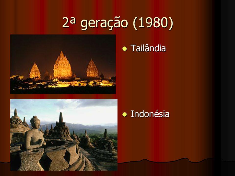 2ª geração (1980) Tailândia Tailândia Indonésia Indonésia