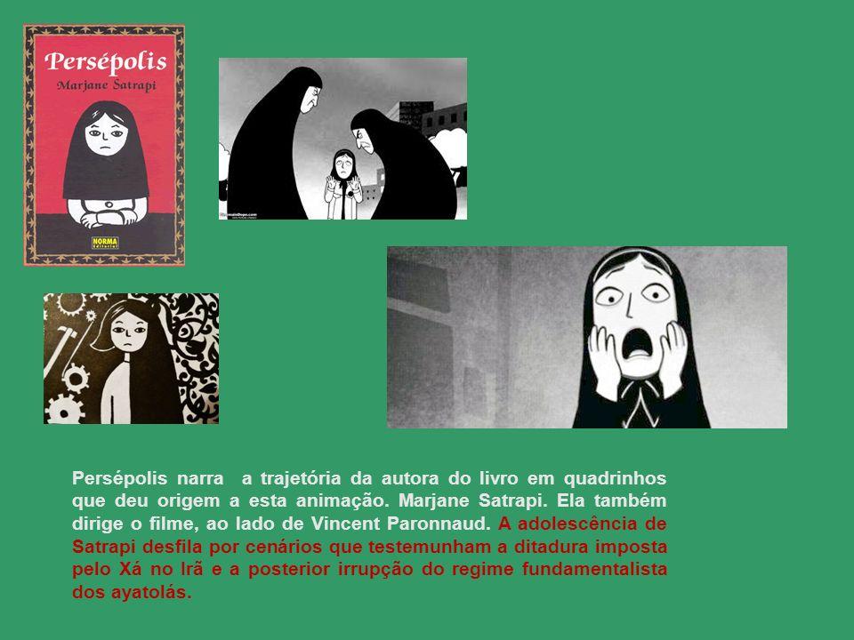 Persépolis narra a trajetória da autora do livro em quadrinhos que deu origem a esta animação. Marjane Satrapi. Ela também dirige o filme, ao lado de