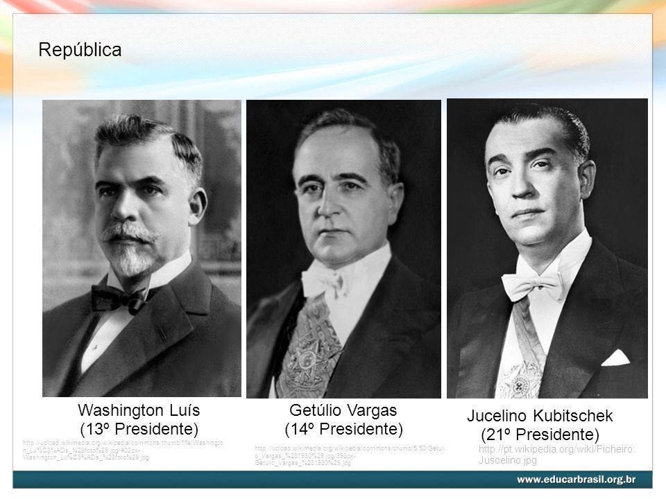 Washington Luís (13º Presidente) http://upload.wikimedia.org/wikipedia/commons/thumb/f/fe/Washingto n_Lu%C3%ADs_%28foto%29.jpg/402px- Washington_Lu%C3