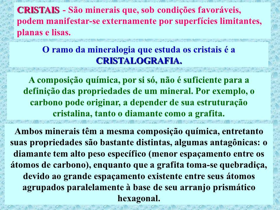CRISTAIS CRISTAIS - São minerais que, sob condições favoráveis, podem manifestar-se externamente por superfícies limitantes, planas e lisas. CRISTALOG