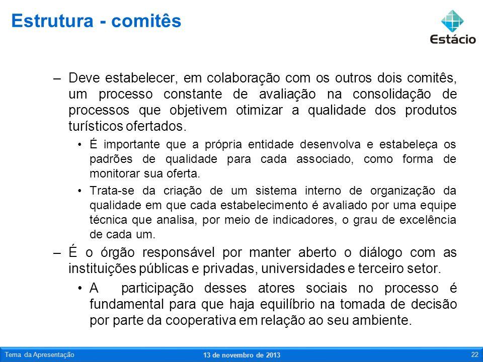 –Deve estabelecer, em colaboração com os outros dois comitês, um processo constante de avaliação na consolidação de processos que objetivem otimizar a