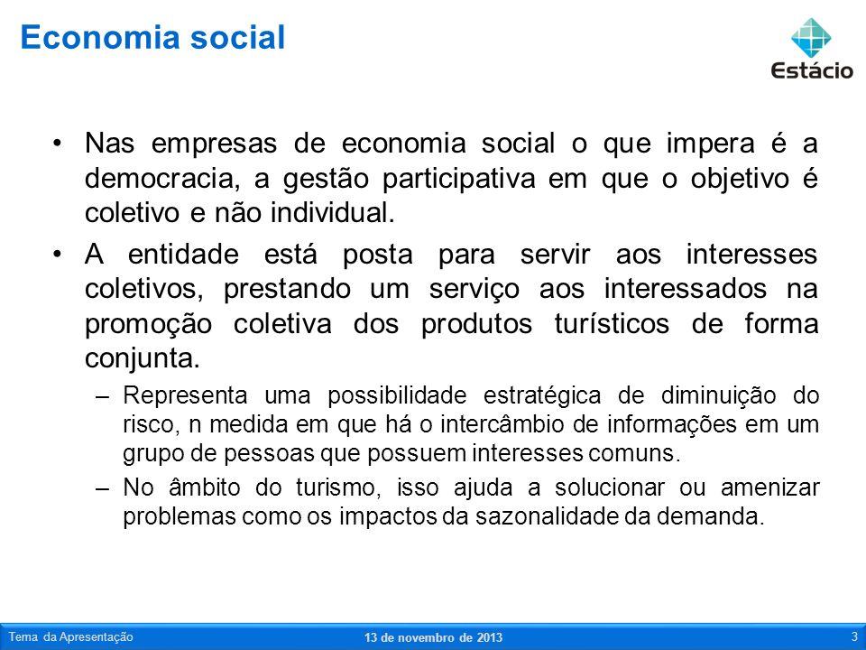 Nas empresas de economia social o que impera é a democracia, a gestão participativa em que o objetivo é coletivo e não individual. A entidade está pos