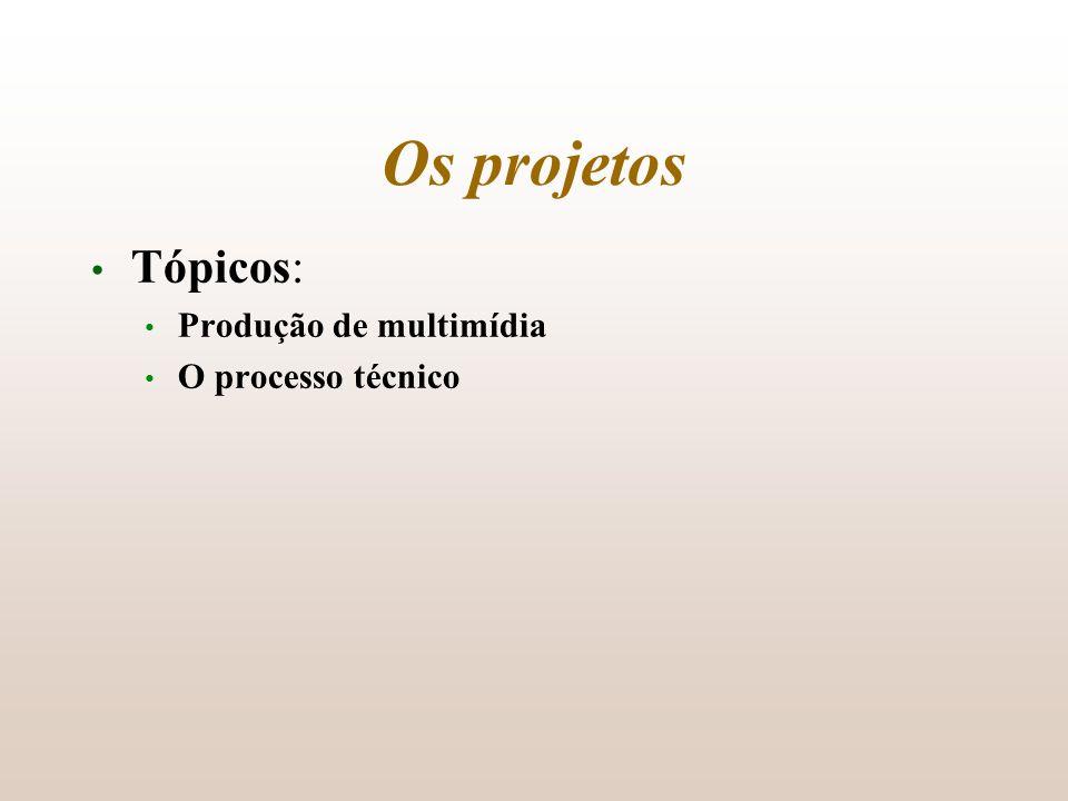 Tópicos: Produção de multimídia O processo técnico