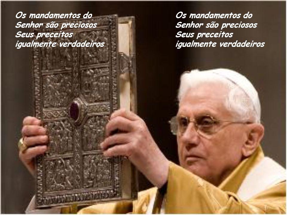Os mandamentos do Senhor são preciosos Seus preceitos igualmente verdadeiros