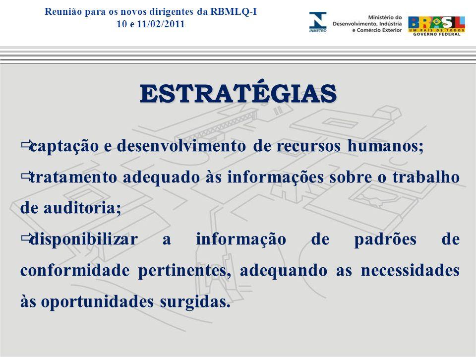 ESTRATÉGIAS captação e desenvolvimento de recursos humanos; tratamento adequado às informações sobre o trabalho de auditoria; disponibilizar a informa