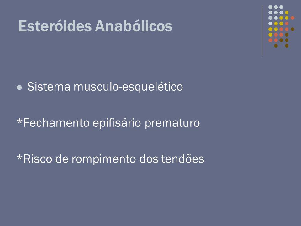 Esteróides Anabólicos Sistema musculo-esquelético *Fechamento epifisário prematuro *Risco de rompimento dos tendões