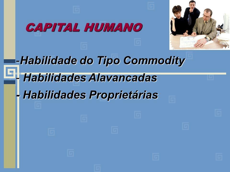-Habilidade do Tipo Commodity - Habilidades Alavancadas - Habilidades Proprietárias