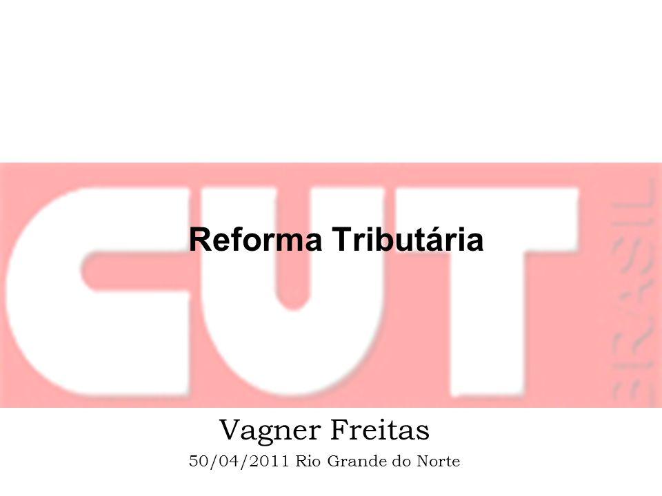 Contexto A discussão de reforma sindical e tributária se insere em um projeto de desenvolvimento para o Brasil que a CUT vem desenvolvendo desde 2007 e se concretiza na Plataforma da CUT para as eleições