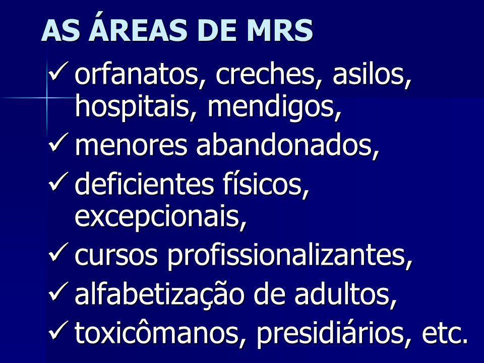 O TREINAMENTO TAMBÉM ABRANGERÁ ÁREAS SOCIAIS SÃO OS MINISTÉRIOS DE REINTEGRAÇÃO SOCIAL – MRS SÃO OS MINISTÉRIOS DE REINTEGRAÇÃO SOCIAL – MRS ESSES MIN
