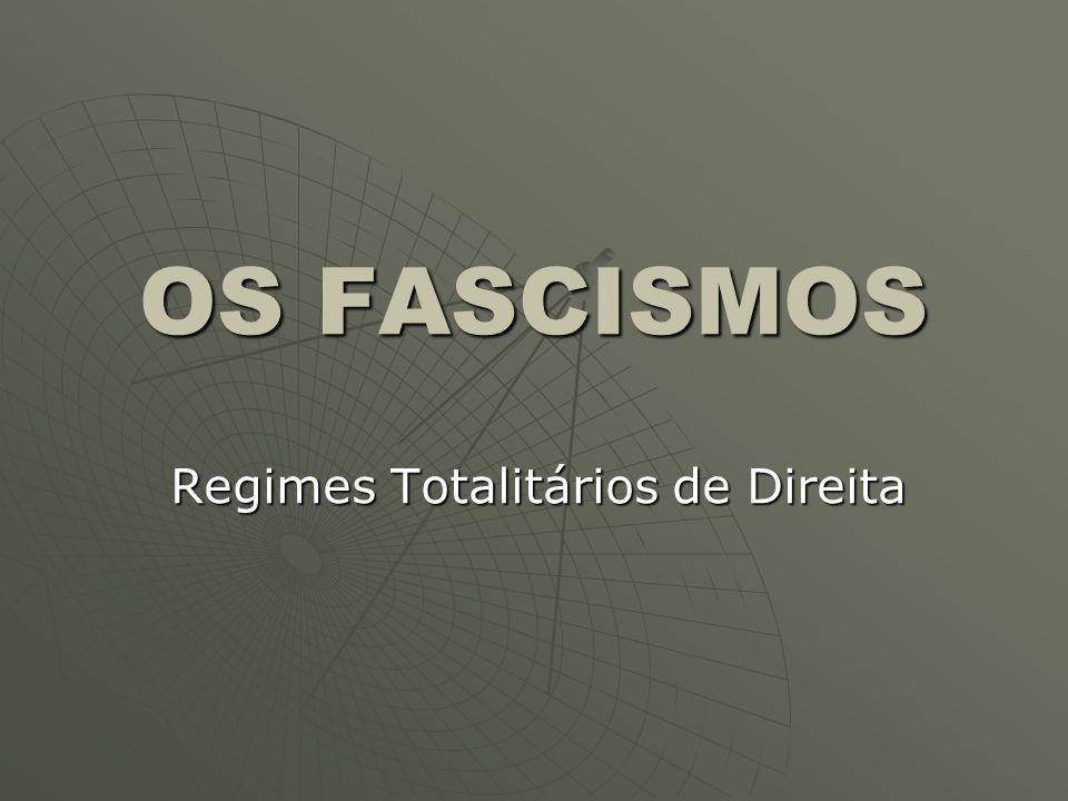 OS FASCISMOS Regimes Totalitários de Direita