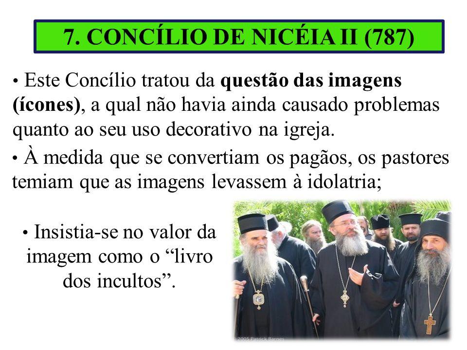 Este Concílio tratou da questão das imagens (ícones), a qual não havia ainda causado problemas quanto ao seu uso decorativo na igreja. À medida que se