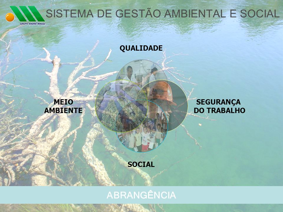 ABRANGÊNCIA SISTEMA DE GESTÃO AMBIENTAL E SOCIAL