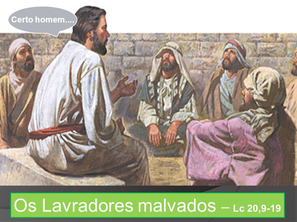 Os Lavradores malvados – Lc 20,9-19 Certo homem....