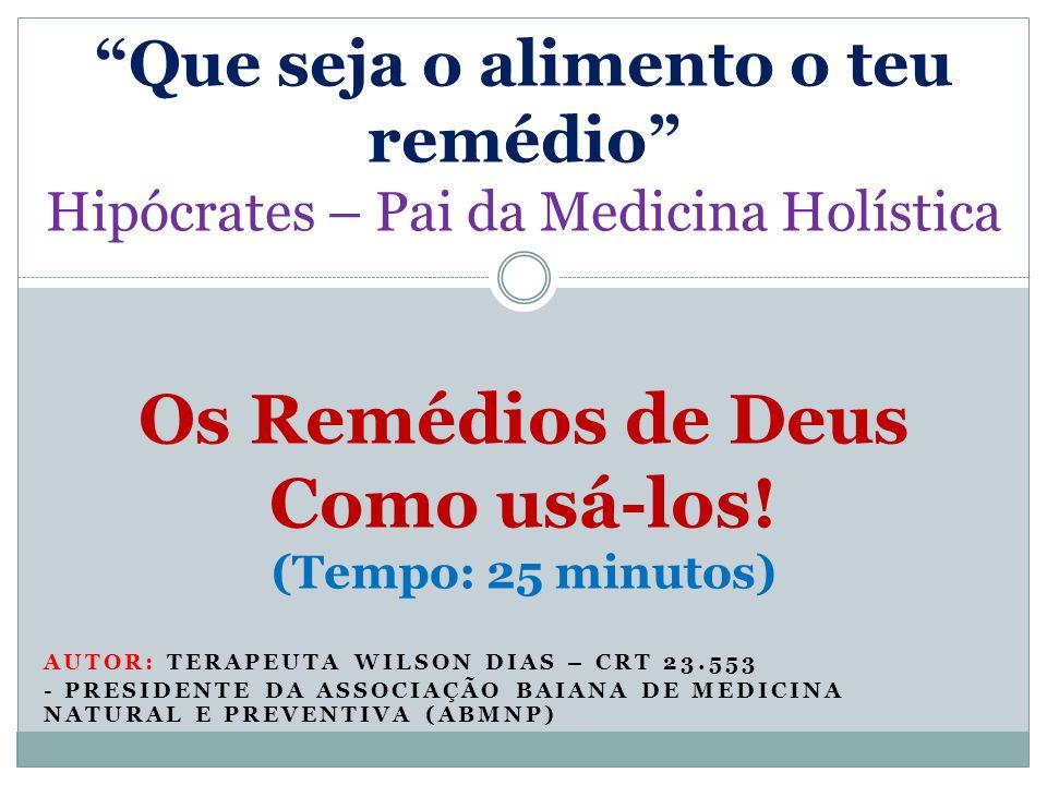 Introdução Os adventistas do sétimo dia deveriam tornar-se conhecidos (não pela guarda do sábado, mas, sim) pelo ensino da reforma de saúde e prática das terapias naturais Ellen White, Medicina e Salvação, pág.