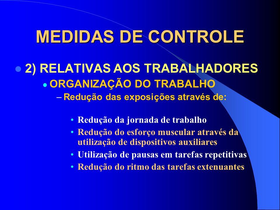 MEDIDAS DE CONTROLE 2) RELATIVAS AOS TRABALHADORES – EQUIPAMENTO DE PROTEÇÃO INDIVIDUAL Uso em situações de emergência Uso em situações de curta expos
