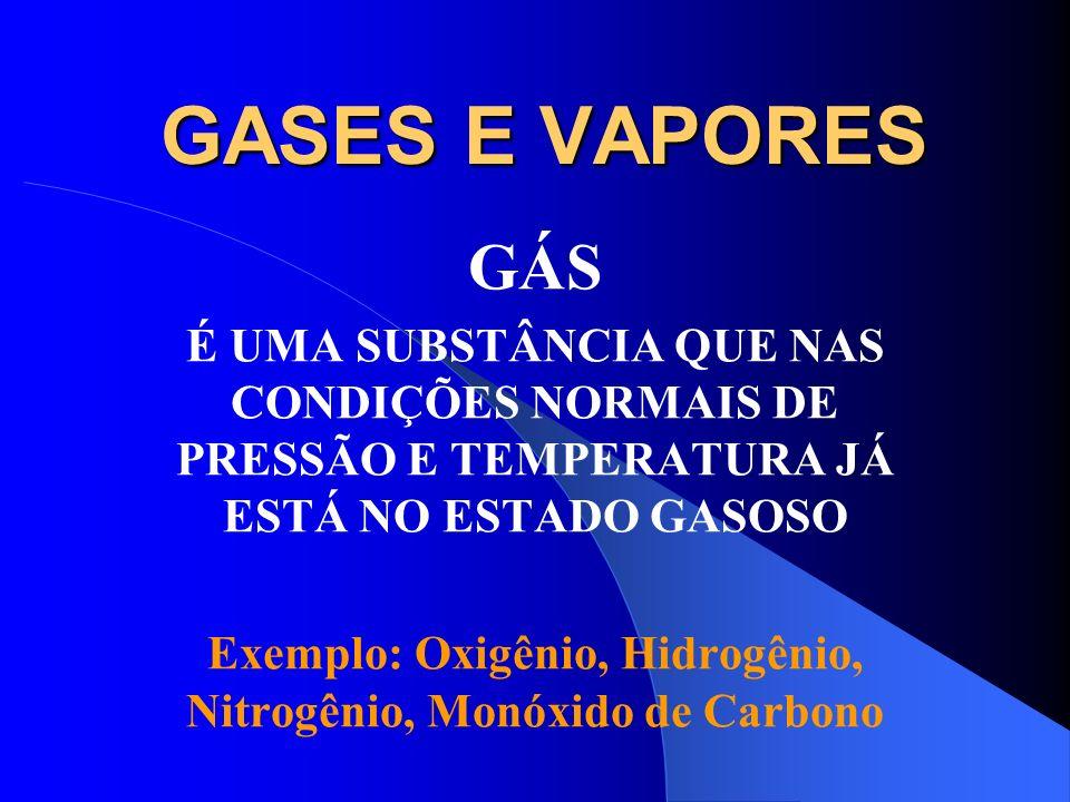 GASES E VAPORES CONCEITUAÇÃO VIAS DE INGRESSO CLASSIFICAÇÃO José Possebon 09/02/2009