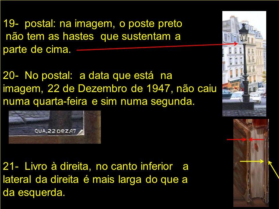 16- No mesmo postal: falta um s Na palavra Poste.
