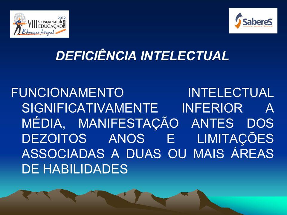 TIPOS DE DEFICIÊNCIA: INTELECTUAL SENSORIAIS: VISUAL, AUDITIVA, CINESTÉSICA FÍSICA MULTIPLAS CONGÊNITAS E GENÉTICAS