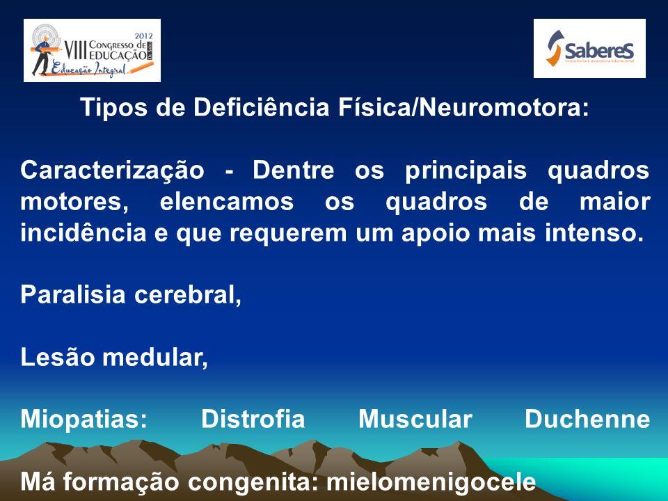 DEFICIÊNCIA FÍSICA: Entende-se por deficiência física uma variedade bastante ampla de condições orgânicas que, de alguma forma, alteram completa ou pa