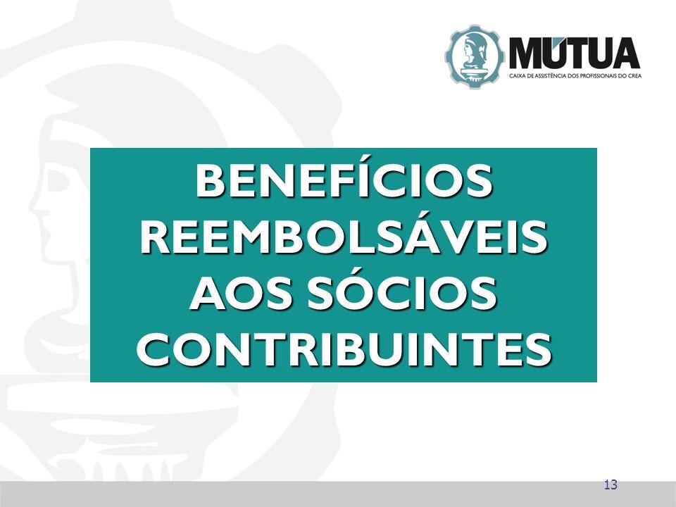 13 BENEFÍCIOS REEMBOLSÁVEIS AOS SÓCIOS CONTRIBUINTES