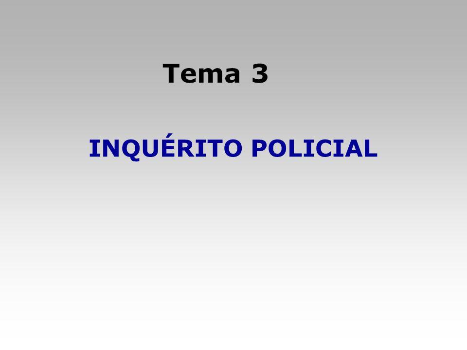 Tema: Inquérito Policial 1.Notitia criminis e Início do inquérito policial Obs.