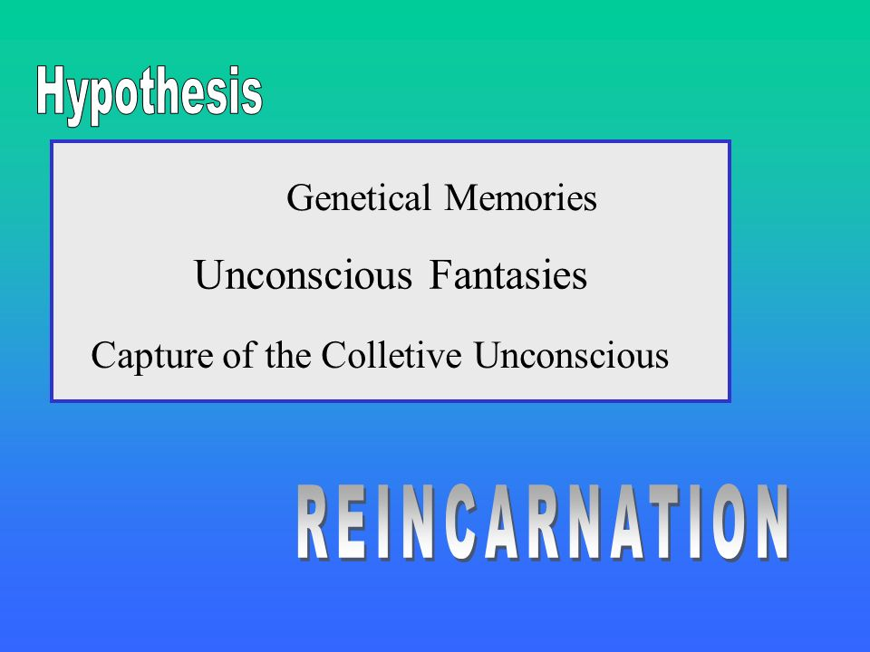 Unconscious Fantasies Capture of the Colletive Unconscious Genetical Memories