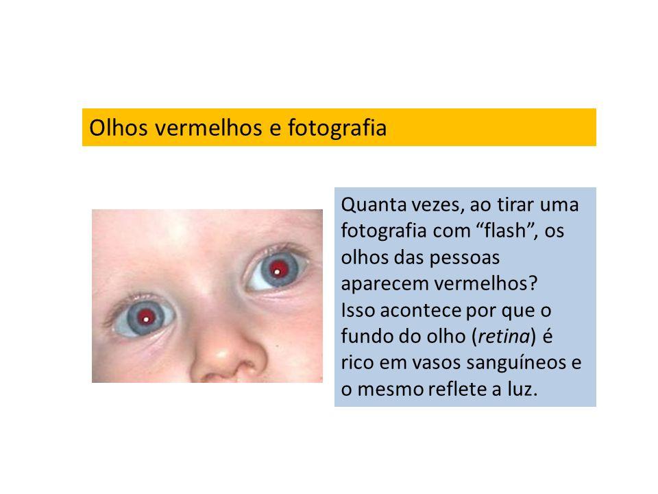Olhos vermelhos e fotografia Quanta vezes, ao tirar uma fotografia com flash, os olhos das pessoas aparecem vermelhos? Isso acontece por que o fundo d