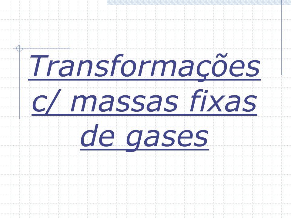 Transformações c/ massas fixas de gases