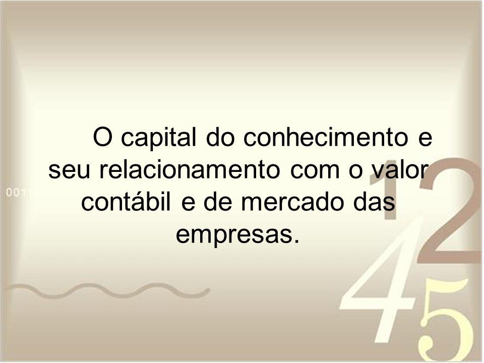 O capital do conhecimento e seu relacionamento com o valor contábil e de mercado das empresas.