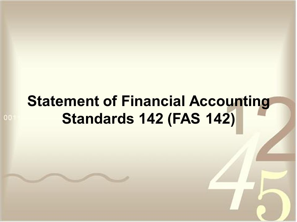 Statement of Financial Accounting Standards 142 (FAS 142)