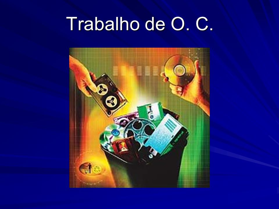 Discos Óticos (CD-ROM e CD-R) Semelhantes aos CDs de música, os discos óticos podem armazenar sons, imagens e textos.