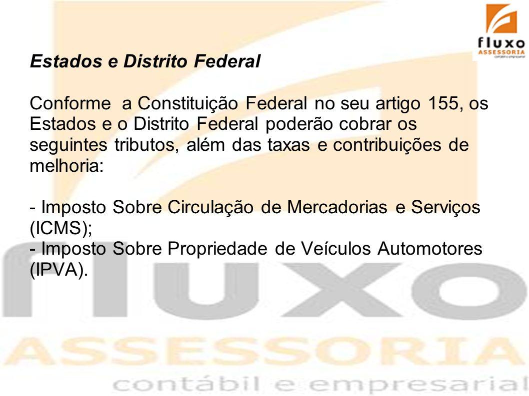 Municípios - Imposto Sobre Serviços (ISS); - Imposto Sobre Propriedade Territorial Urbana (IPTU);
