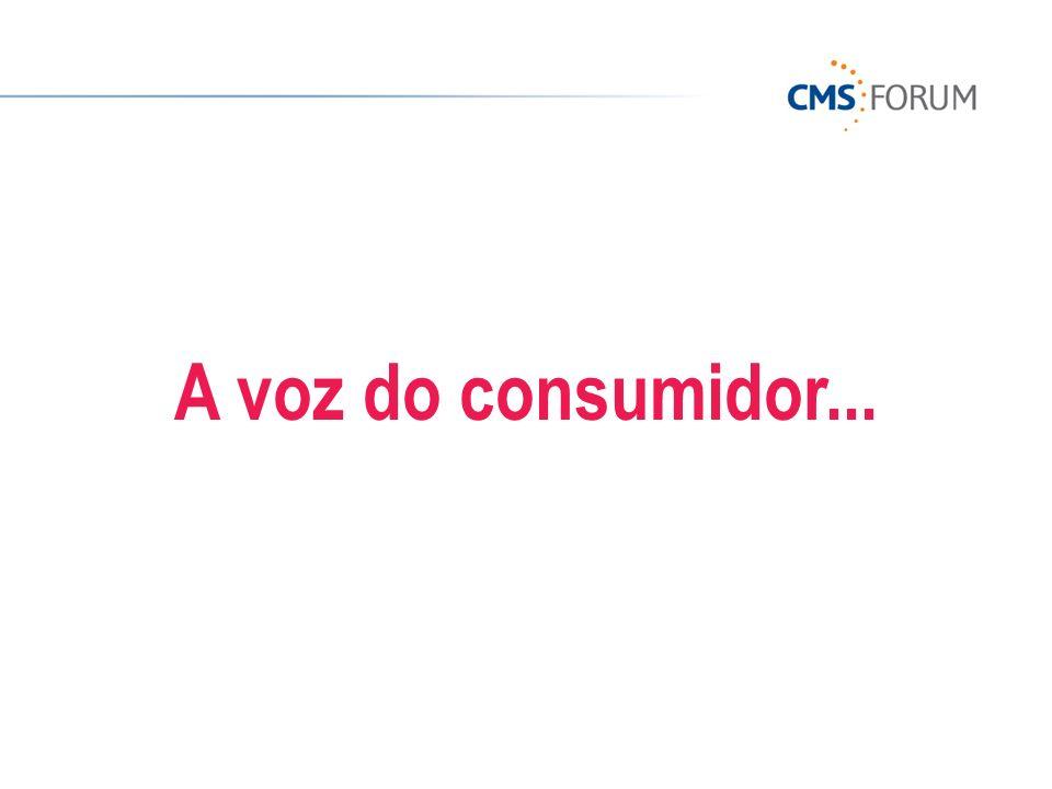 A voz do consumidor...