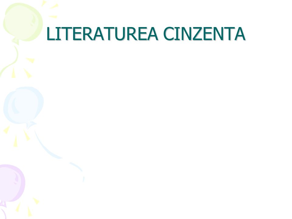LITERATUREA CINZENTA