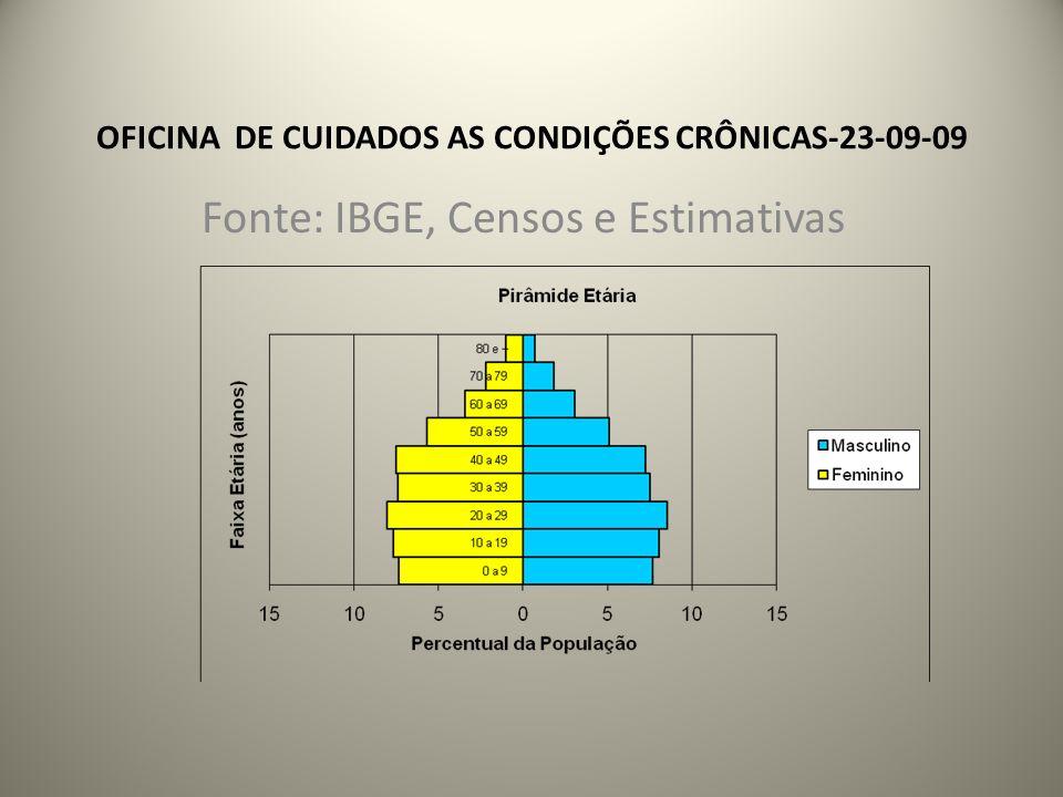 OFICINA DE CUIDADOS AS CONDIÇÕES CRÔNICAS-23-09-09 A população que mais cresce é a população acima de 60 anos.