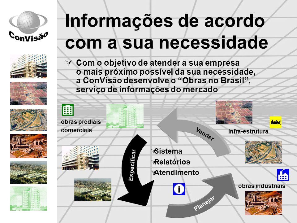Obras do seu segmento de mercado Utilizando o Obras no Brasil é possível escolher exatamente as oportunidades de obras do seu foco de atuação Obras prediais * shoppings, hotéis, hospitais, supermercados, centros de distribuição, etc.