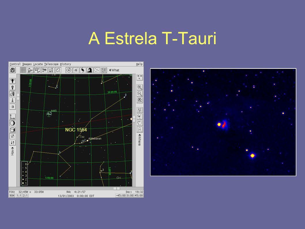 A Estrela T-Tauri NGC 1554