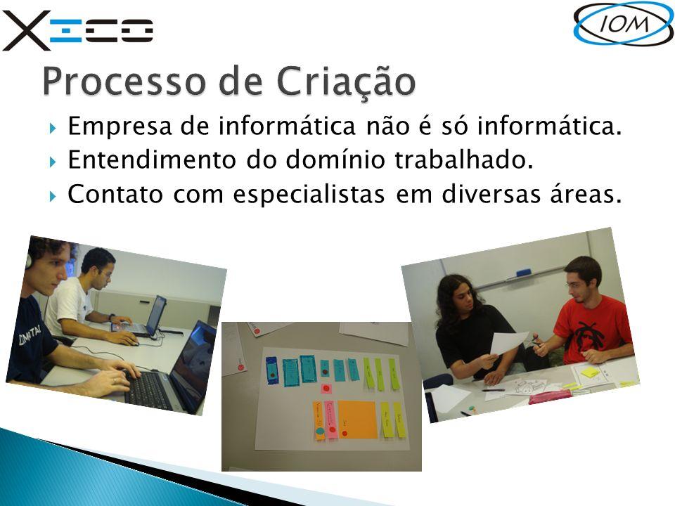 Empresa de informática não é só informática. Entendimento do domínio trabalhado. Contato com especialistas em diversas áreas.