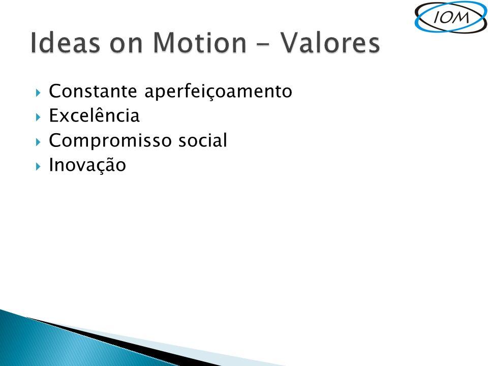 Constante aperfeiçoamento Excelência Compromisso social Inovação